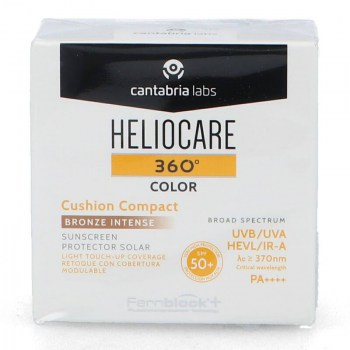 heliocare cushion compact bronze intense color 360o 15gr