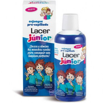 lacer junior enjuague pre cepillado 500 ml